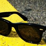 Sunglasses on road